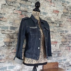 JUICY COUTURE Dark Wash Jean Jacket Size Medium